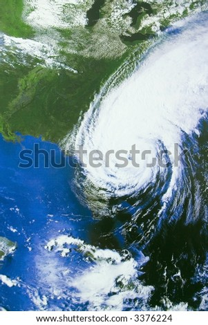 Hurricane over Florida - satellite photo