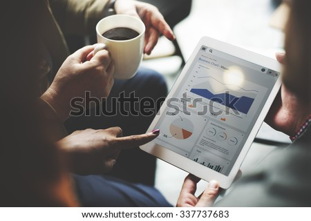 Business Team Brainstorming Data Target Financial Concept Royalty-Free Stock Photo #337737683