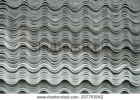 asbestos roof plate background or texture