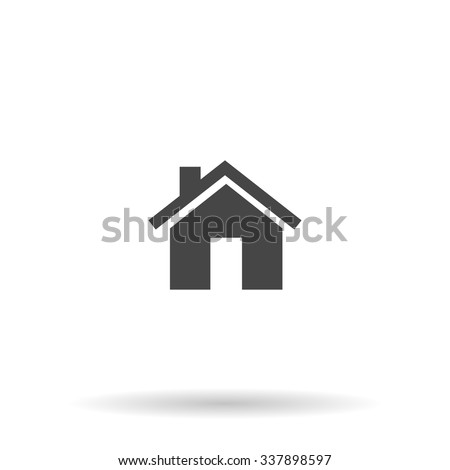 Small house. Icon Vector. Simple flat symbol. Illustration pictogram
