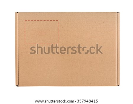 Cardboard box isolated on a white background #337948415