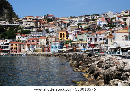Promenade in Parga, Greece #338018576