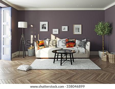 modern living room  interior.3d design concept #338046899