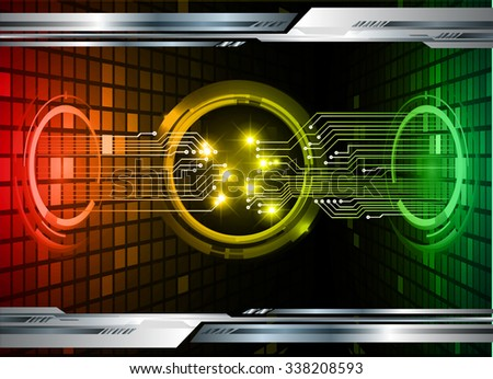 dark red yellow green silver Light Abstract Technology background for computer graphic website internet and business. circuit. illustration.digital. infographics. binary code. zero one. vector. #338208593