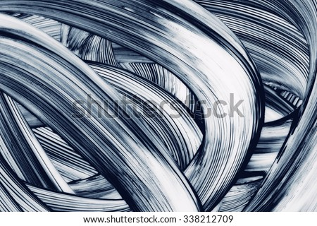Abstract Curves grunge brush strokes hand painted background Royalty-Free Stock Photo #338212709