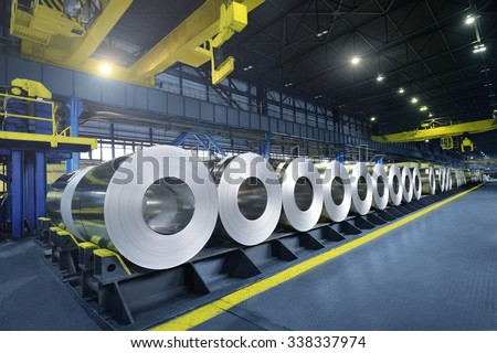 Packed rolls of steel sheet, Cold rolled steel coils #338337974