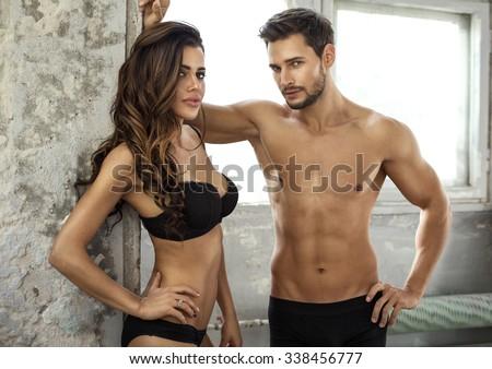 Beautiful couple in underwear #338456777