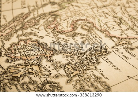 World map of the antique. Asia. #338613290