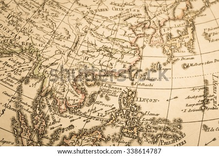 World map of the antique. Asia. #338614787