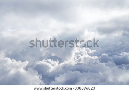 background of soft clouds in blue sky #338896823