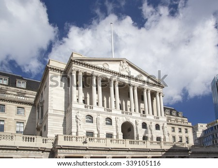 The Bank of England in London UK Royalty-Free Stock Photo #339105116