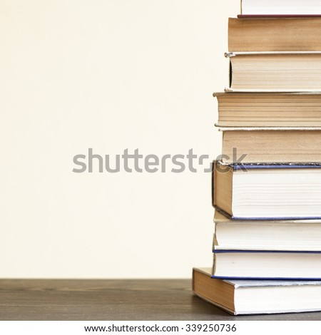 Old Books On The Desk #339250736