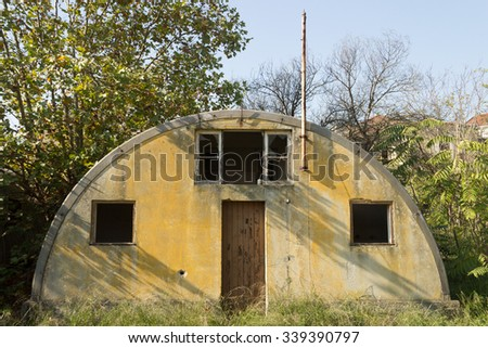 A hut from the time of the world war II #339390797