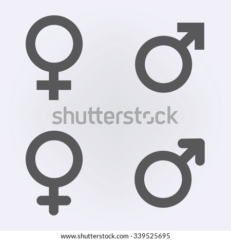 Male and female symbol set . Vector illustration Royalty-Free Stock Photo #339525695