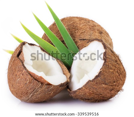 coconut isolated on white background #339539516