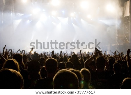 Crowd at a concert #33977617