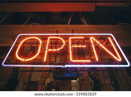 Open Sign Neon Light Bar Restaurant Shop Business decoration