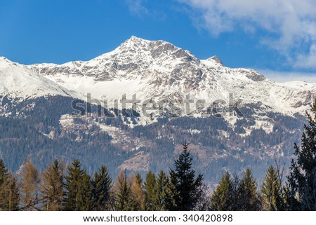 Clear winter day in the Austrian Dolomites #340420898