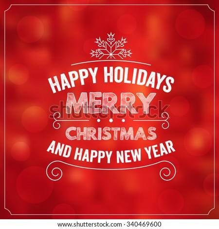 Christmas Typographic Background / Merry Christmas #340469600
