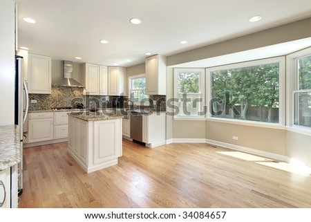 Kitchen with large picture window