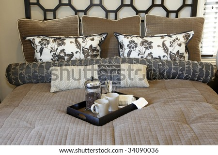 Luxury home bedroom with modern decor. #34090036