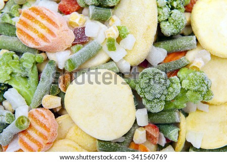 Frozen vegetables Royalty-Free Stock Photo #341560769