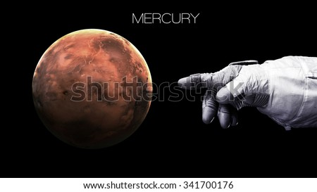Mercury - High resolution best quality solar system planet. All the planets available. This image elements furnished by NASA.