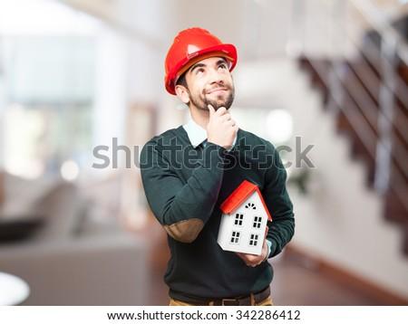 architect man on white #342286412