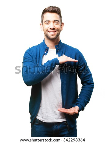young man holding something #342298364