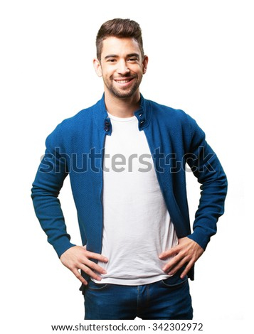 young man smiling #342302972