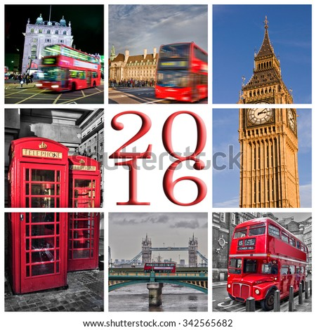 2016 London photos collage greeting card