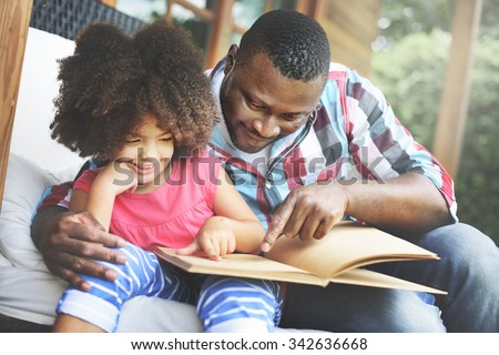 Father Daughter Bonding Cozy Parenting Education Concept Royalty-Free Stock Photo #342636668