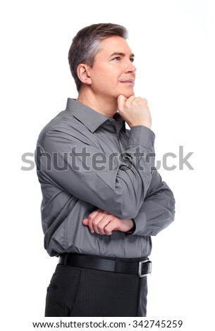 Handsome serious businessman. Isolated over white background.  #342745259