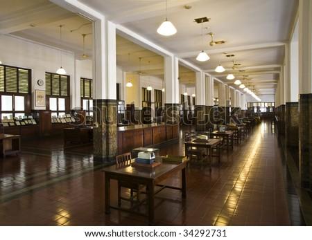 Colonial bank interior  #34292731