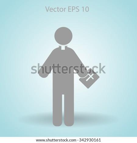 Pastor vector icon #342930161