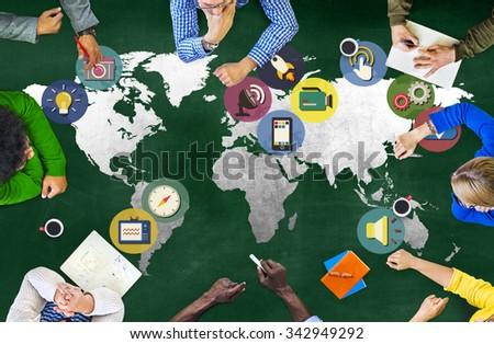 Global Media Social Media International Connection Concept #342949292