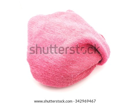 pink towel on a white background        #342969467