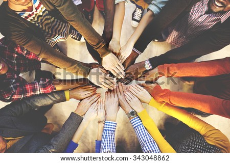 Team Teamwork Togetherness Collaboration Concept Royalty-Free Stock Photo #343048862