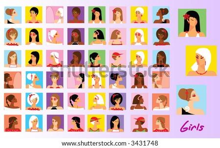 Portrait of different girls #3431748