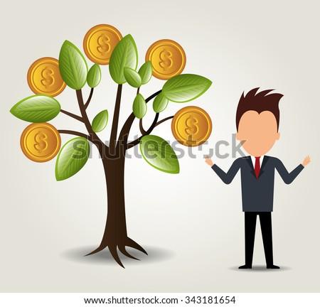 Bank,global economy and money savings graphic, vector illustration design #343181654