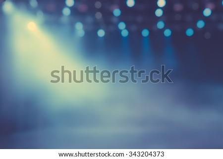 Show spotlight smog blurred background  Royalty-Free Stock Photo #343204373