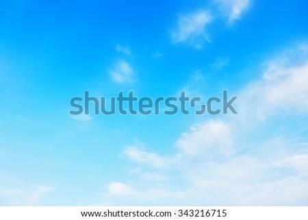 Romantic light blue sky #343216715