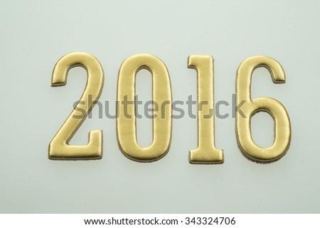 Happy new year 2016. Year 2016 image design element.