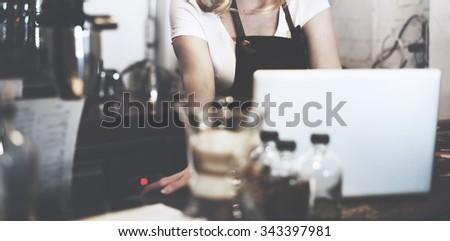 Barista Cafe Making Coffee Preparation Service Concept #343397981