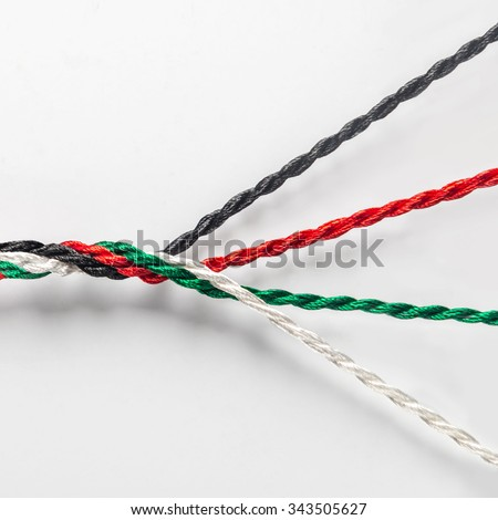 Strength in unity - an idea. UAE national day conceptual background.