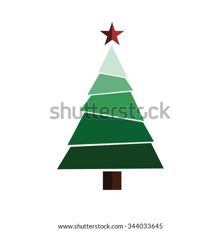 flat christmas tree  #344033645