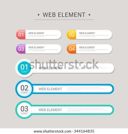 Vector element design set #344164835