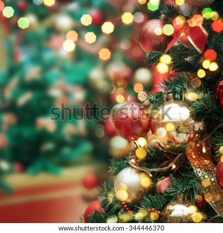 decorated Christmas tree  #344446370