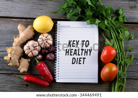 Key to healthy diet, health conceptual. #344469491
