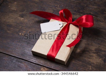 presents on a wooden background #344546642